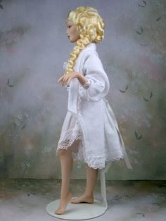 1:12th Dollhouse Victorian / Edwardian Porcelain Young Woman Doll by Terri Davis | eBay