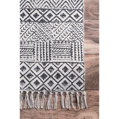 Laurel Foundry Modern Farmhouse Oldtown Hand-Woven Gray Area Rug | Wayfair