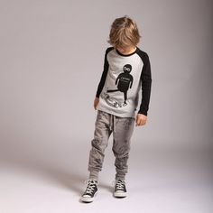 Super comfy, easy to wear and oh so practical to mix and match with in a little stylers winter wardrobe. Stylish Boy Clothes, Stylish Boys, Raglan Tee, Mix N Match, Winter Wardrobe, Boy Outfits, Long Sleeve Tees, Skull, Hipster