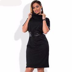 d34185c35114 Autumn Plus Size Straight Fashion Sexy Elegant Women Dress