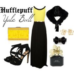 Hufflepuff Yule Ball  | Harry Potter Inspired Outfits yellow and black  Perhaps my most favorite combination of them all