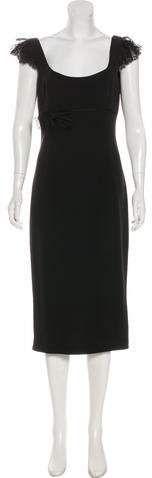 L'Wren Scott Crepe Lace-Trimmed Dress
