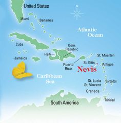 Map of Nevis Favorite Places Spaces Pinterest Nevis west