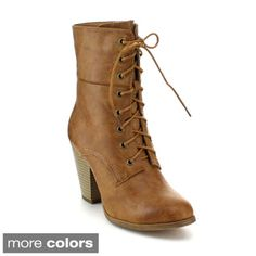 Refresh Women's 'Sierra-01' Lace-up Mid-Calf Boots