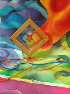 Resultado de imagen de seda pintada a mano
