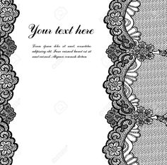 Black Lace Royalty Free Cliparts, Vectors, And Stock Illustration ...