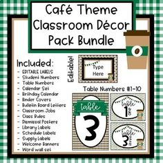 Coffee Cafe Theme Classroom Decor Bundle (Editable) - Decoration For Home Teacher Classroom Decorations, Classroom Jobs, Future Classroom, Classroom Management, Classroom Layout, Classroom Posters, Science Classroom, Library Labels, Supply Labels