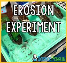 This fun erosion experiment tests the effect of different landscapes on the amount of sediments eroded by water. Fourth Grade Science, Middle School Science, Elementary Science, Science Classroom, Science Fair, Teaching Science, Science Education, Teaching Ideas, Teaching Resources