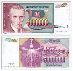 Yugoslavia  5 Million Dinara 1993