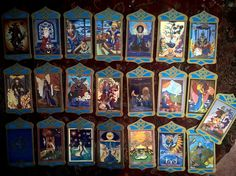 TAROT RARITY!!! SHEREZADE TAROT, Major Arcana full, 22 cards. Production:  Hungary from around 1995. by Z. Réti Kamilla painter. * The cards are almost new, high quality * Size: 82x132 mm  * Price: 100$ * Shipping: Free - Europa, USA * Payment: prepayment, bank account or in person * Owner: Evva Lena di Reirossi / Eva Ilona *  www.evailona.hu and http://www.facebook.com/evvalena * e-mail: tunderkepzo@gmail.com * Phone, viber: +36703145911