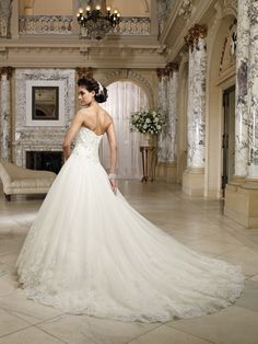 Wedding dresses and bridals gowns by David Tutera for Mon Cheri for every bride at an affordable price  |  Wedding Dresses  |  Style #212245 - Nevaeh
