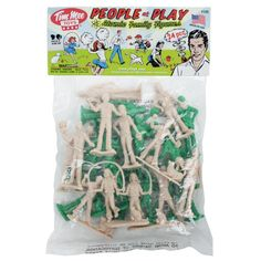 Tim Mee People Play Figures: Green and Putty Color Playset - Made in USA Apocalypse Survivor, Green Army Men, People Figures, Space Aliens, Sunny Afternoon, Aggressive Dog, Train Layouts, Family Dogs, Classic Toys