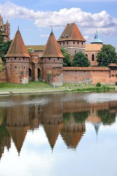 Malbork Castle in the north of Poland