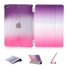 iPad Air Case, iPad Air Cover, DEENOR Colour Series Smart Cover Transparent Back Cover Ultra Slim Light Weight Auto Wake up/Sleep Function Protective Case Cover for Apple iPad Air iPad 5 With Screen Guard & Stylus. A06