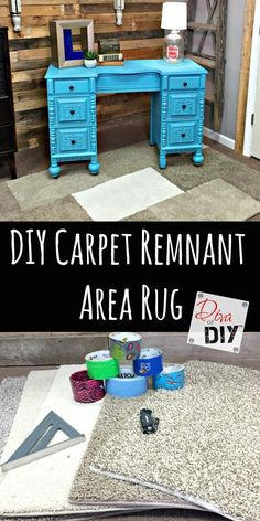Cheap and Easy carpet remnant area rug. Great for kids room and dorm rooms where…