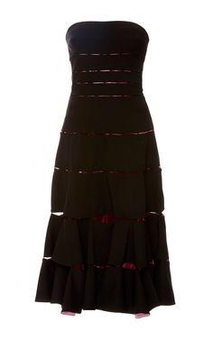 ZAC POSEN Strapless Deconstructed A-Line Dress