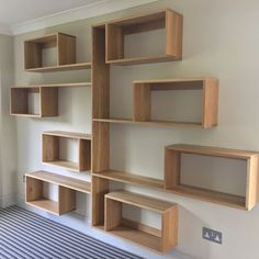 American white oak bookcase manufactured at our workshop Shelves, Bookshelves Diy, Creative Bookcases, Bookshelves In Living Room, Bookcase Diy, Homemade Home Decor, Wood Shelves, House Interior Decor, Shelving