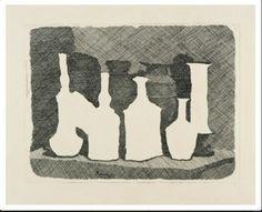 Giorgio Morandi, Nature morte, gravure sur cuivre à l'eau-forte, 1931