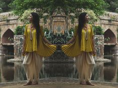 Beautiful ensemble by label Shikhaya Studio. For complete look head to the blog: www.mscocoqueen.com