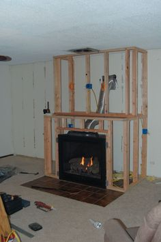 Amazing DIY Fireplace and Built-Ins