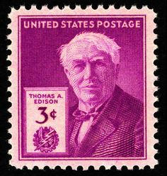 Thomas Edison stamp from USA