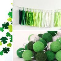 Check out this collection featuring 16 Charming Handmade St. Patrick's Day Garland Photo Props You Just Gotta Have. Wooden Decor, Diy Wall Decor, Wooden Diy, Handmade Wooden, Handmade Rugs, Diy Christmas Decorations Easy, Christmas Diy, Garden Decorations, Wall Decorations