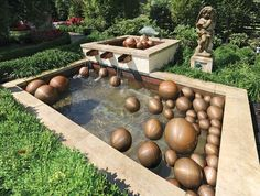 """Copper fountain, or """"moon pool,"""" custom designed by Jonathan Spayde of Landfare Ltd. #housetrends"""