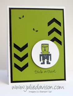 Stampin' Up! Freaky Friends Frankenstein Card #stampinup www.juliedavison.com