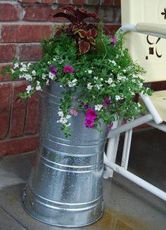 Paint bucket planters
