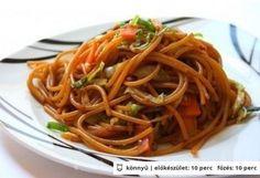 Kínai tészta, ahogy a büfében készül /I do not own anything/ Asian Recipes, Healthy Recipes, Ethnic Recipes, Smoothie Fruit, Vegan Comfort Food, Top 5, Chinese Food, Pasta Dishes, Food Porn