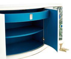 Jetclass - Limited Edtion Peacock http://www.jetclassgroup.com/en/catalogue/collection/line/ #luxuryfurniture #interiordesign #design #contemporaryinteriors #moderndesign #luxeinteriors #bedroom #livingroom #luxuryroom #homedecor #expensivehomes #beautifullifestyle #handcraft #sideboard #peacock #details #bluedetails #limitededition