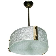 French Molded Glass Pendant | From a unique collection of antique and modern chandeliers and pendants at https://www.1stdibs.com/furniture/lighting/chandeliers-pendant-lights/