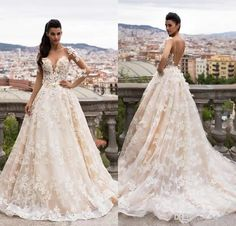 free shipping, $153.77/piece:buy wholesale milla nova bella 2017 dream bridal sheer long sleeves full lace wedding dresses illusion neck floor length backless wedding dress custom 2016 spring summer,reference images,tulle on hjklp88's Store from DHgate.com, get worldwide delivery and buyer protection service.