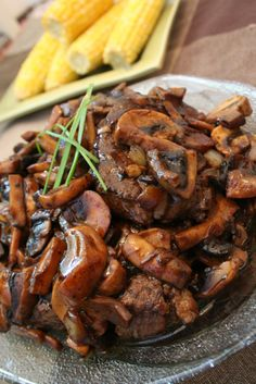Steak with Balsamic Mushroom Sauce
