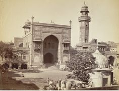 """""""Wazir Khan mosque"""", Lahore, 1880s"""