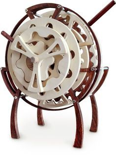 Riven - A Wooden Hypocycloid Clock