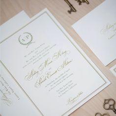 Monogram Wedding Invitation classic by JenSimpsonDesign on Etsy