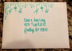 Christmas Card ldea Using Silhouette Pens