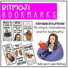 Editable Bitmoji Bookmarks **Add Your Own Bitmoji - Spaids In The Classroom Classroom Jobs, 4th Grade Classroom, Future Classroom, Classroom Organization, Classroom Management, Classroom Decor, Student Bookmarks, Classroom Language, Classroom Community