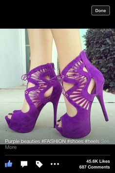 ab24e4a8139 Shop Gorgeous Purple Suede Cut-Outs Peep Toe High Heel Boots on sale at  Tidestore with trendy design and good price. Come and find more fashion  High Heel ...