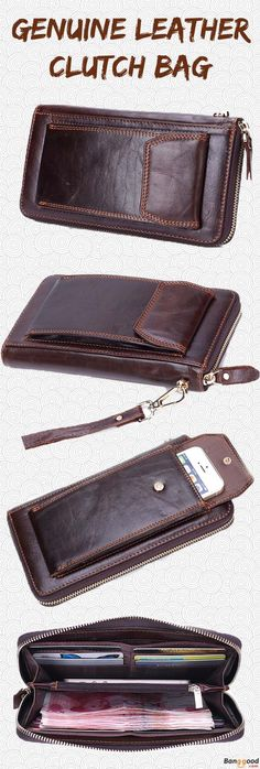 US$28.69 + Free shipping. Men Wallet, Genuine Leather Clutch Bag, Long Clutch Bag, Phone Bag, Business Wallet. Multiple Pocket Design, Material: Genuine Leather. Shop Now for this Vintage Style Clutch Bag.