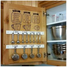 Keep all your BAKING measurements & tools in one place! Great idea!