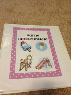 Pink Lips and Teaching Tips: The Nanny Series: Part 1: Nanny Binder    Comes with free worksheet downloads
