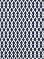 Graphic fret pattern in cobalt cotton for Robert Allen fabric...