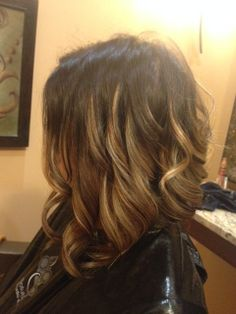 Ombre on a short Asymmetrical haircut