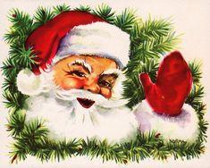 Bilderesultat for julebilder Vintage Christmas Images, Retro Christmas, Vintage Holiday, Christmas Pictures, Christmas Clipart, Christmas Greeting Cards, Christmas Printables, Christmas Greetings, Christmas Scenes