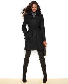 Kenneth Cole Reaction Belted Wool-Blend Walker Coat