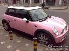 Like this pink mini cooper Haa