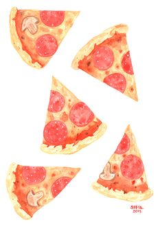 Pizza!! by SOFIA MARTINEZ A., via Behance