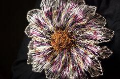 Pink Flower Brooch Flower Jewelry Gerbera daisy Bridal by Vmikro